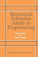 Cover image for Structural adhesive joints in engineering