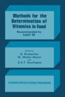 Cover image for Methods for the determination of vitamins in food :recommended by COST 91