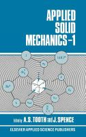 Cover image for Applied solid mechanic-1