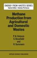 Cover image for Methane production from agricultural and domestic wastes