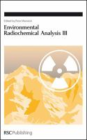Cover image for Environmental radiochemical analysis III