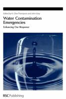 Cover image for Water contamination emergencies : enhancing our response