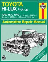 Cover image for Toyota Hi-Ace and Hi-Lux owners workshop manual