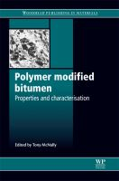 Cover image for Polymer modified bitumen : properties and characterisation