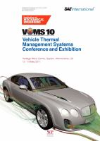 Cover image for Vehicle thermal management systems proceedings : VTMS 10, Heritage Motor Centre, Gaydon, Warwickshire, UK, 15-19 May 2011