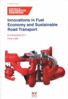Cover image for Innovations in fuel economy and sustainable road transport : 8-9 November 2011, Pune, India
