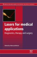 Cover image for Lasers for medical applications : diagnostics, therapy and surgery