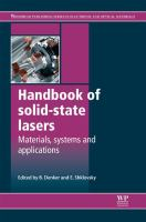 Cover image for Handbook of solid-state lasers : materials, systems and applications