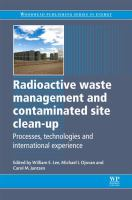 Cover image for Radioactive waste management and contaminated site clean-up : processes, technologies and international experience