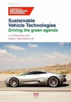 Cover image for Sustainable vehicle technologies : driving the green agenda