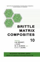 Cover image for Brittle matrix composites 10