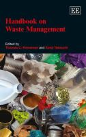 Cover image for Handbook on waste management