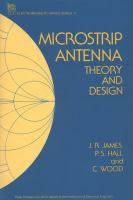 Cover image for Microstrip antenna : theory and design