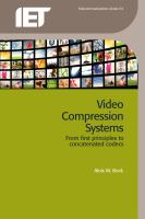 Cover image for Video compression systems