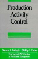 Cover image for Production activity control : a practical guide