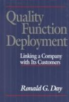 Cover image for Quality function deployment : linking a company with its customers