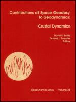 Cover image for Contributions of space geodesy to geodynamics : crustal dynamics