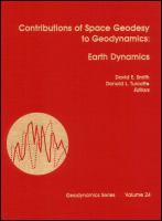 Cover image for Contributions of space geodesy to geodynamics : earth dynamics