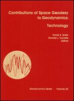 Cover image for Contributions of space geodynamics : technology