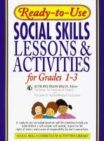 Cover image for Ready-to-use social skills lessons & activities for grades 1-3