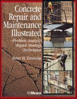 Cover image for Concrete repair and maintenance illustrated