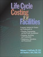 Cover image for Life cycle costing for facilities