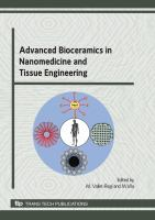 Cover image for Advanced bioceramics in nanomedicine and tissue engineering : special topic volume with invited peer reviewed papers only