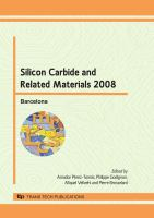 Cover image for Silicon carbide and related materials 2008 : selected, peer reviewed papers from the 7th European conference on silicon carbide and related materials, September 7-11, Barcelona, Spain