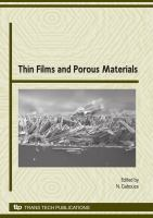 Cover image for Thin films and porous materials