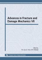 Cover image for Advances in fracture and damage mechanics VII : selected, peer reviewed papers from the 7th International Conference on Fracture and Damage Mechanics, FDM 2008, 9-11 September, 2008, Korea