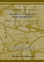 Cover image for Advances in fracture and materials behavior : selected, peer reviewed papers the Seventh International Conference on Fracture and Strength of Solids, (FEOFS2007), ... 27 ~ 29, 2007