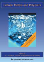Cover image for Cellular metals and polymers : CMaP : proceedings of the Symposium on Cellular Metals and Polymers : sponsored by the Deutsche Forschungsgemeinschaft (DFG) : held October 12-14, 2004, in Furth, Germany