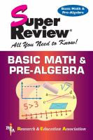 Cover image for Basic math and pre-algebra