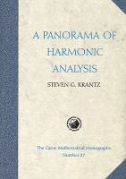 Cover image for A panorama of harmonic analysis