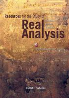 Cover image for Resources for the study of real analysis
