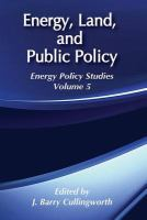 Cover image for Energy, land and public policy