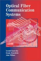 Cover image for Optical fiber communication systems