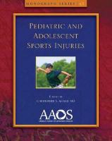 Cover image for Pediatric and adolescent sports injuries