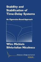 Cover image for Stability and stabilization of time-delay systems : an eigenvalue-based approach