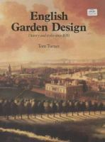 Cover image for English garden design : history and styles since 1650