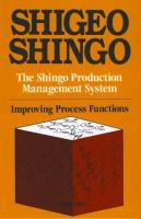 Cover image for The Shingo production management system : improving process functions
