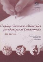 Cover image for Quality assurance principles for analytical laboratories