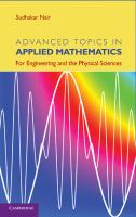 Cover image for Advanced topics in applied mathematics : for engineering and the physical sciences