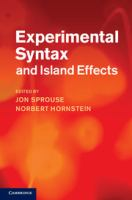 Cover image for Experimental syntax and island effects