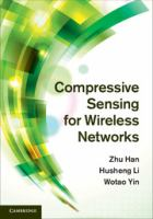 Cover image for Compressive sensing for wireless networks