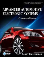 Cover image for Classroom manual for advanced automotive electronic systems