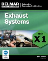 Cover image for Exhaust systems (Test X1).