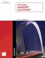 Cover image for Harnessing AutoCAD Civil 3D 2011