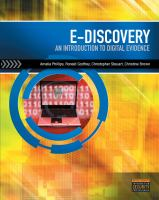 Cover image for E-discovery : an introduction to digital evidence