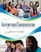 Cover image for Interpersonal communication : everyday encounters